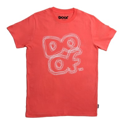 Doof Tee - Scribbled (Coral)