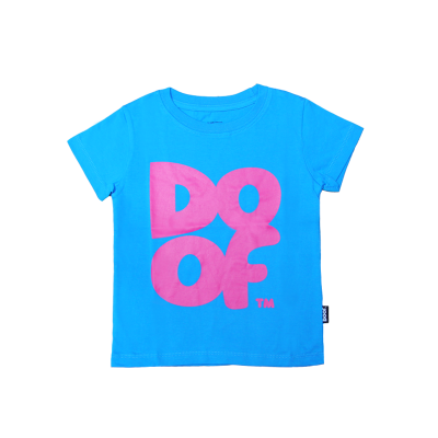 Doof Tee - Coloured (Cyan+Pink)