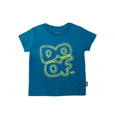 Doof Tee - Scribbled (Dark Teal)